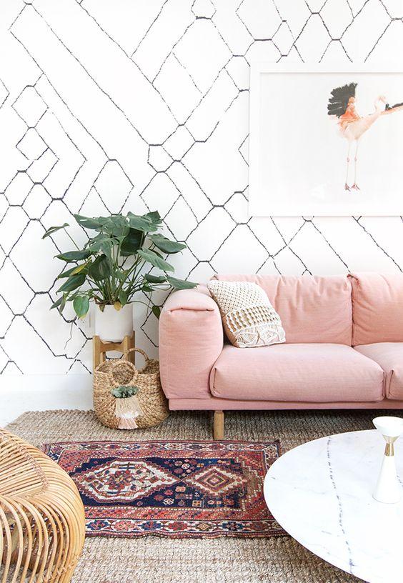 Pale Pink Modern Room