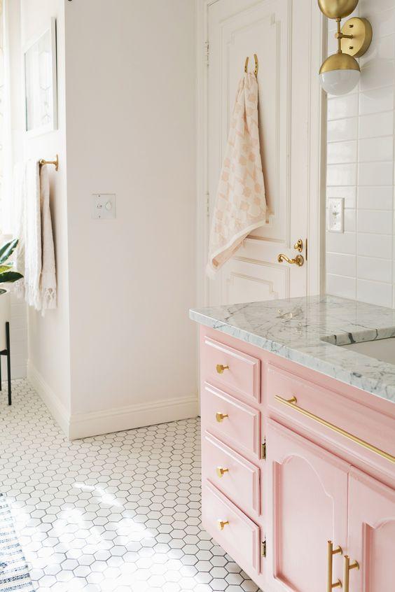 Modern Pink Bath