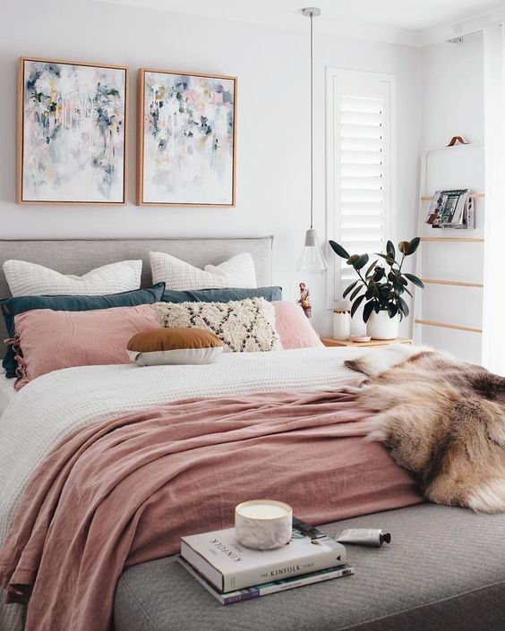Modern Blush Bedroom