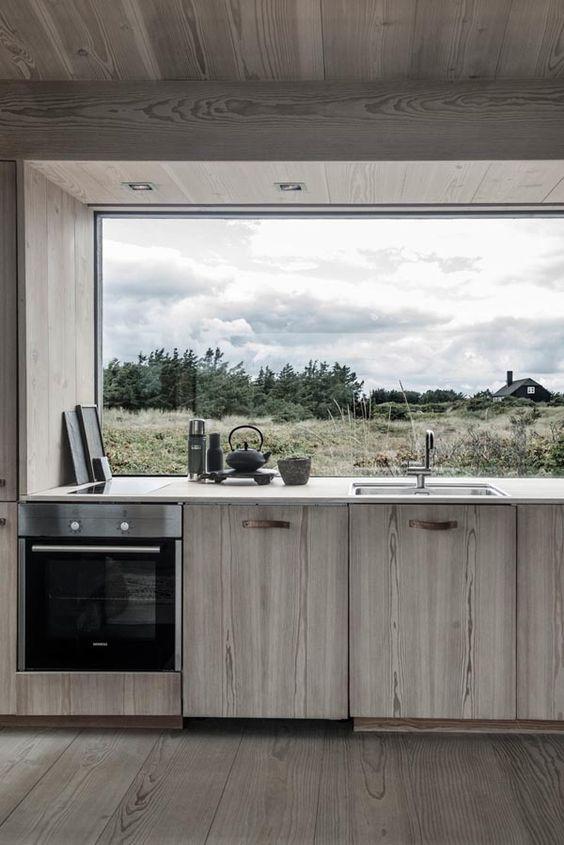 Contemporary Cabin Kitchen