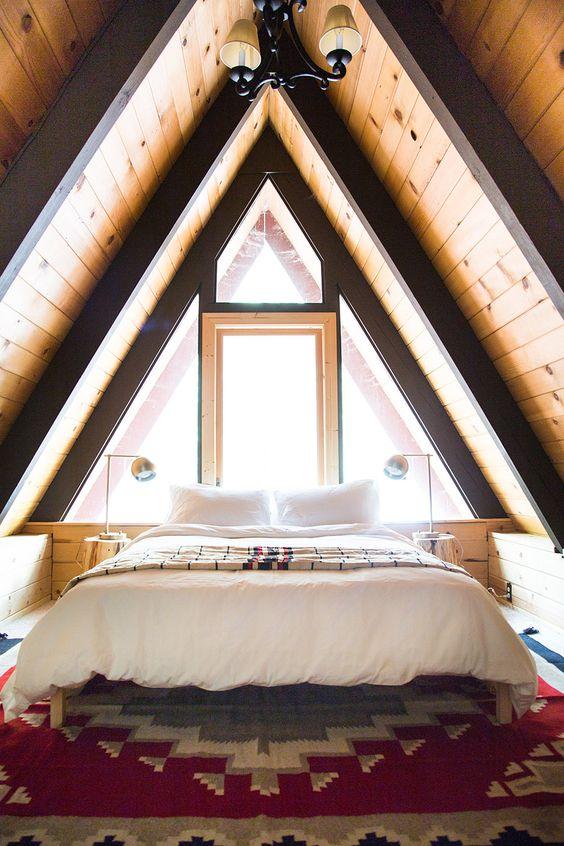 A Frame Modern Bedroom