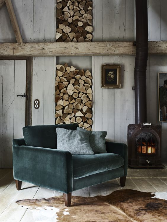 Mid Century Modern Emerald Chair