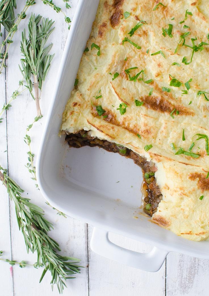 Vegan Plant Based Lentil Sheperd's pie