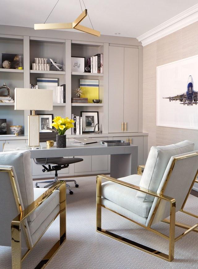 Modern Brass Statement Office Chairs