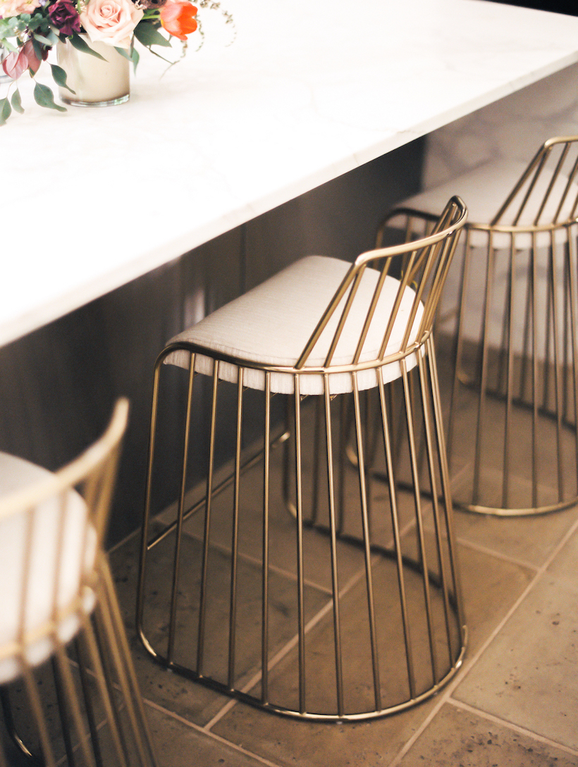modern home decor brass bar stools