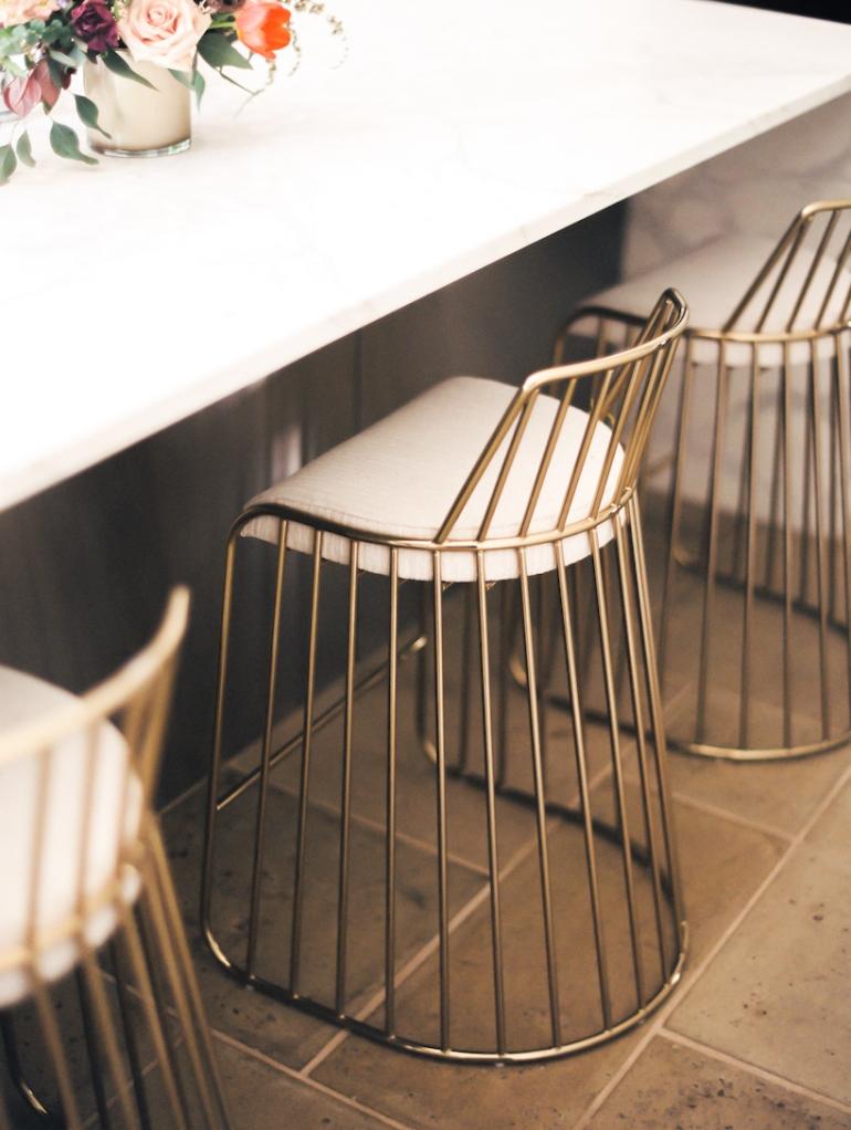 modern home decor brass bar stools