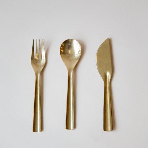 Modern Home Decor Brass Flatware