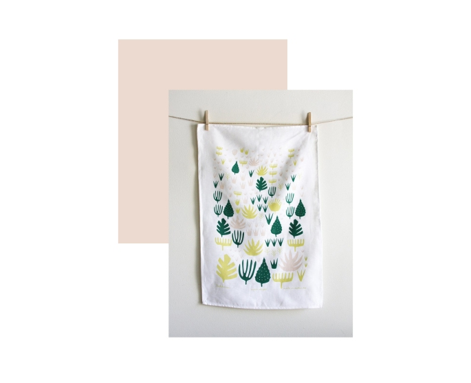 Leah Duncan: Agave Shapes Tea Towel