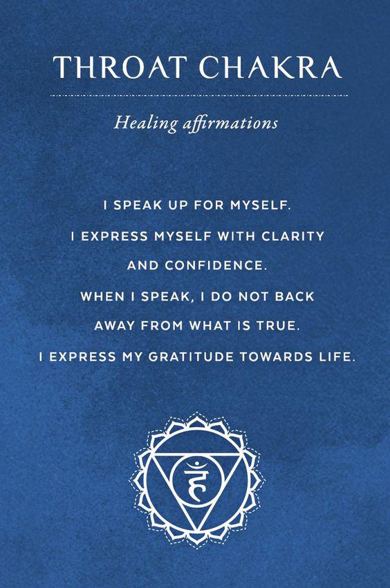 Throat Chakra Affirmations