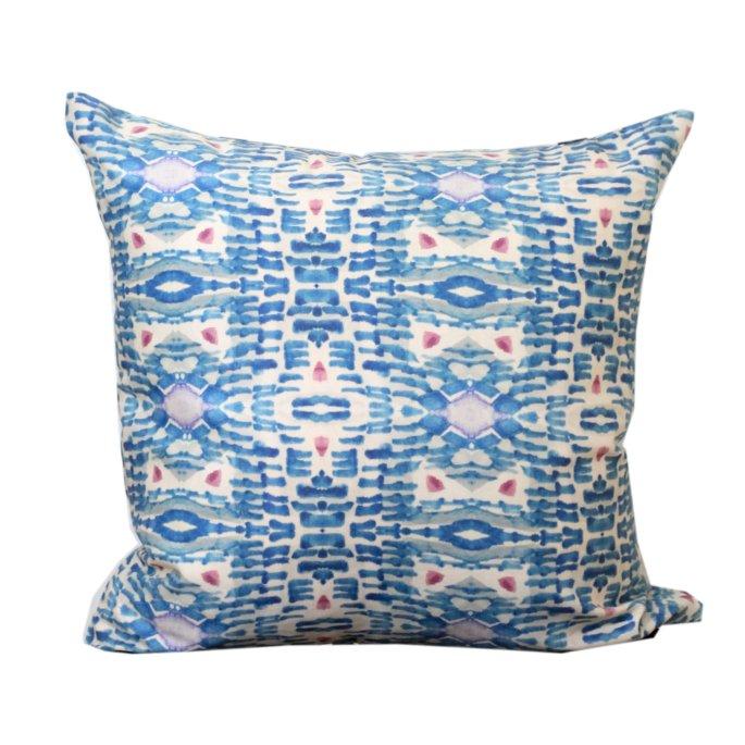Blue Willow Modern Pillow