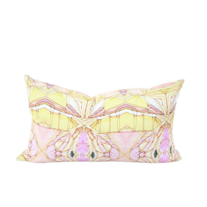 Golden Lotus Modern Pillow by Bunglo