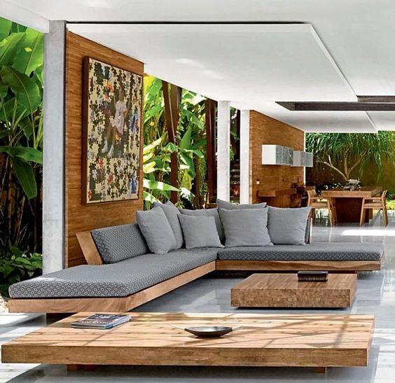 Delightful Modern Print  + Warm Wood