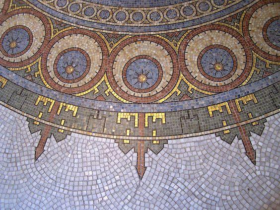 Mosaic Floor inside Boutique Fouquet in Paris, designed by Alphonse Mucha