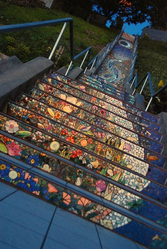 Secret Stairway Mosaic in San Francisco