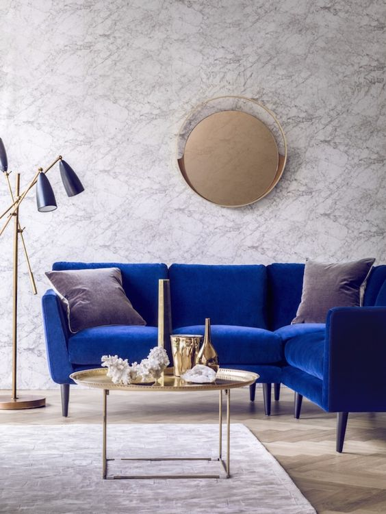 Cobalt Velvet Lounge