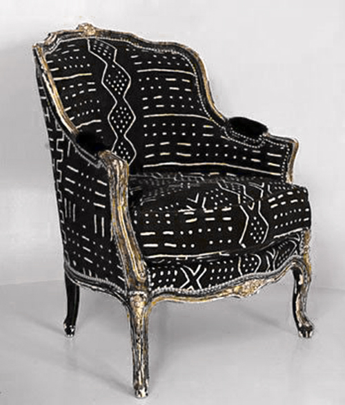 Vintage Mud Cloth Armchair