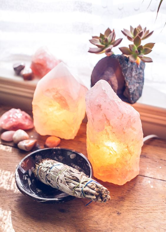 Salt Lamps + Sage