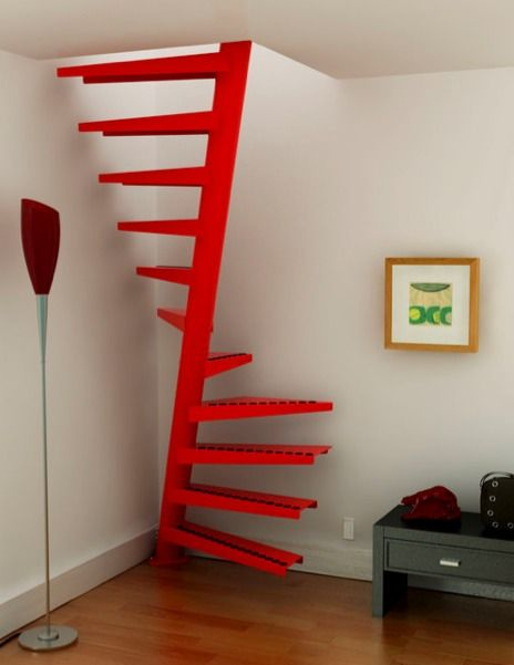 Edgy Spiral Stair