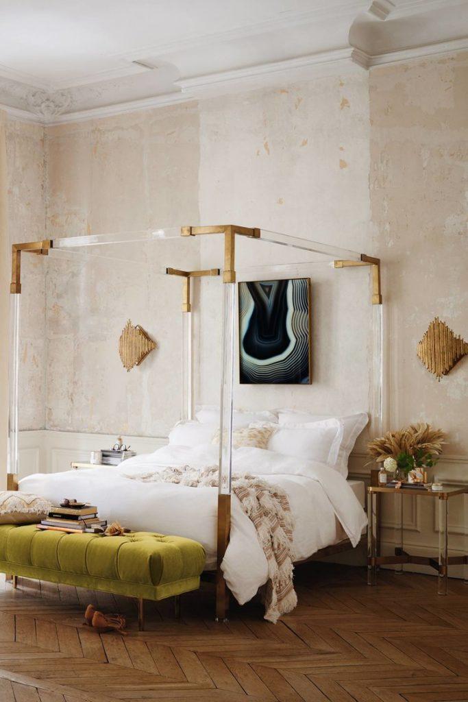 Feminine Parisian Modern Bedroom