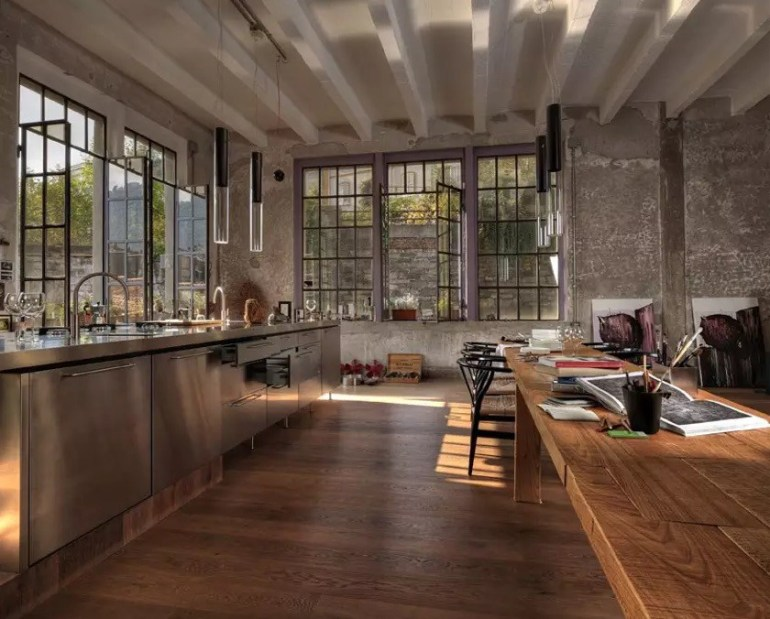 Lake Como Loft Kitchen
