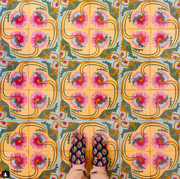 Cuban Floors in Trinidad, Gucci Shoes