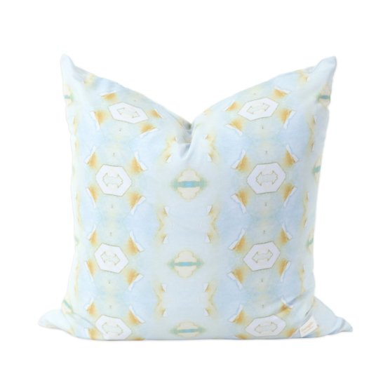 Blue Lotus Modern Pillow by Bunglo
