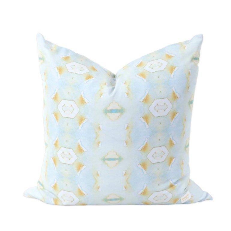 Blue Lotus Modern Pillow