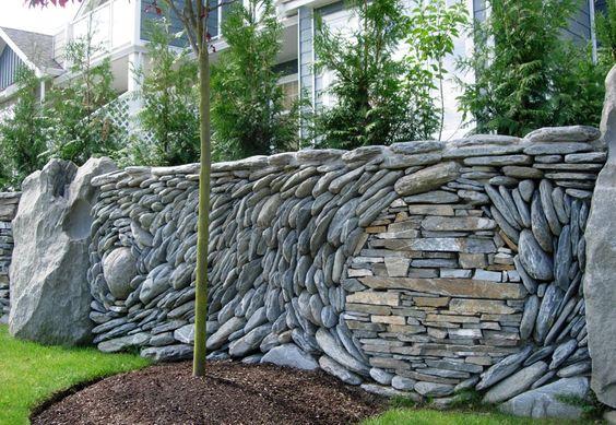 Mosaic Stone Wall