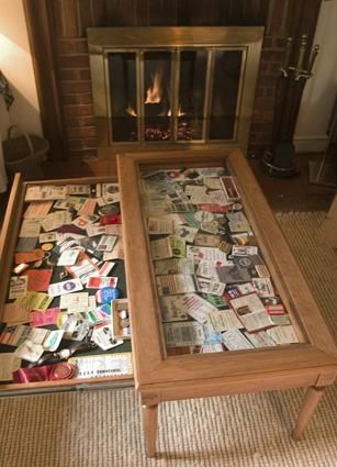 Ticket Stub Coffee Table Idea