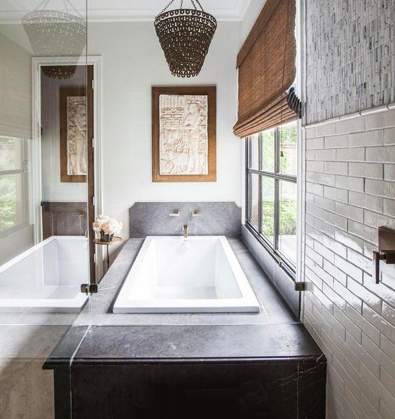 Eclectic Bathing Nook