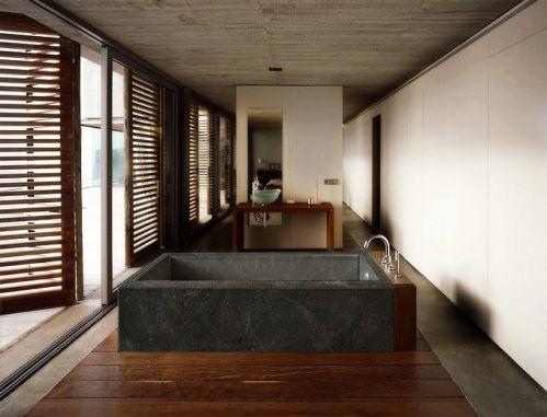 Exotic Soapstone Soaking Tub