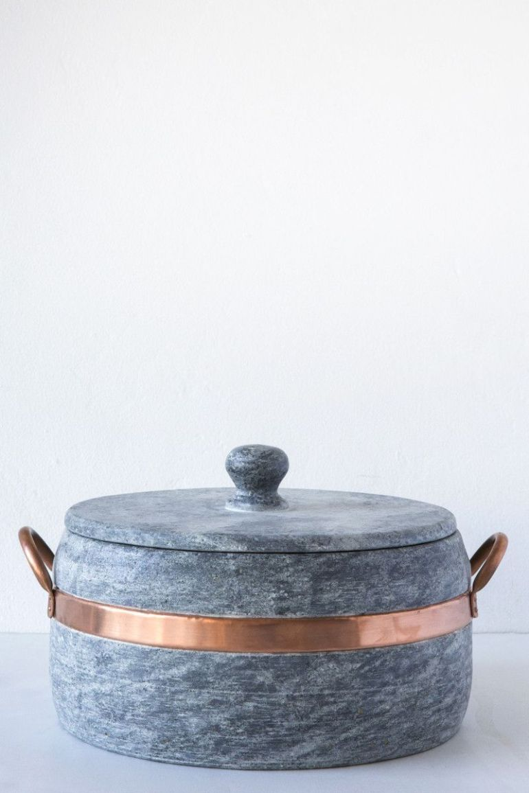 Brazilian Soapstone + Copper Pot