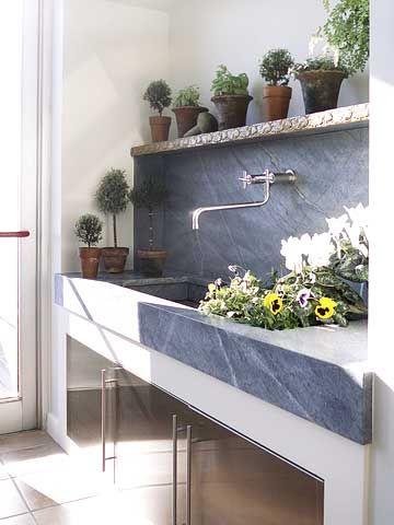 Elegant Soapstone Washing Station