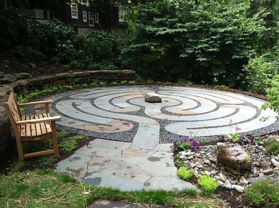Stone Labyrinth Patio