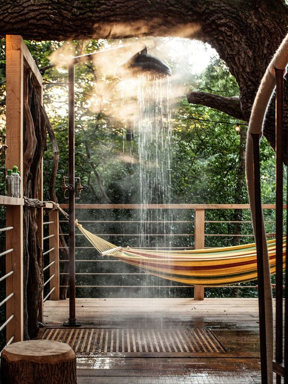 Steamy Treetop Rain Shower