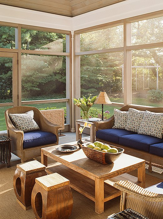 Modern Boho Sunroom