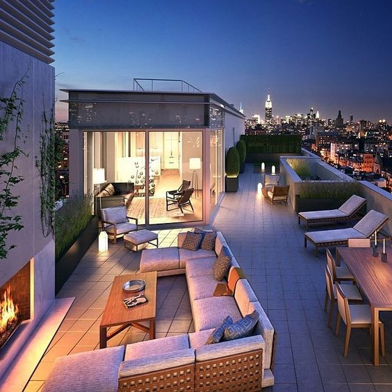 Cozy Rooftop Lounge
