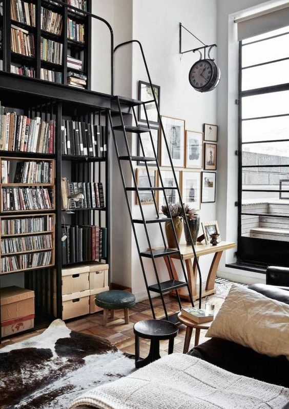 Bookshelves from Floor to Ceiling