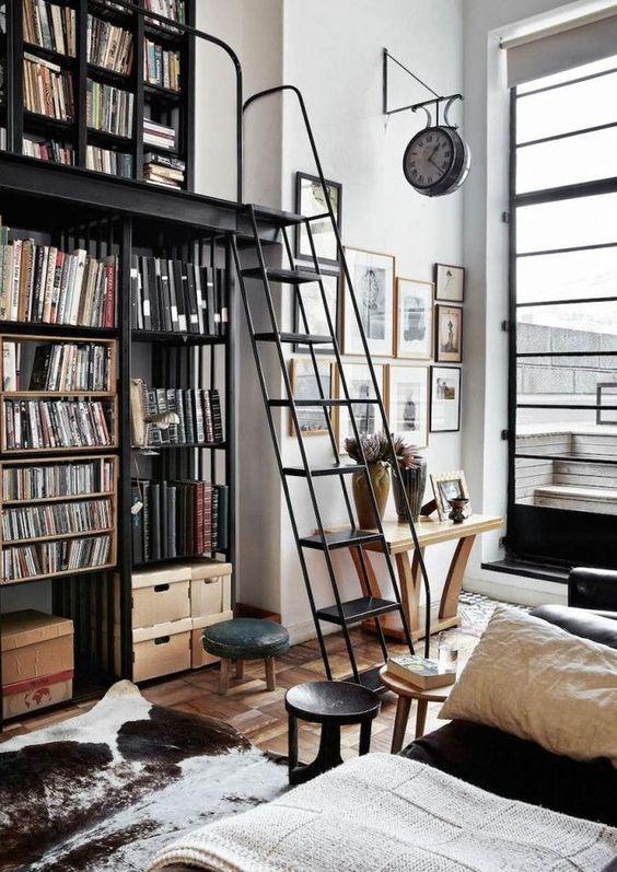 Bookshelves from Floor to Ceiling