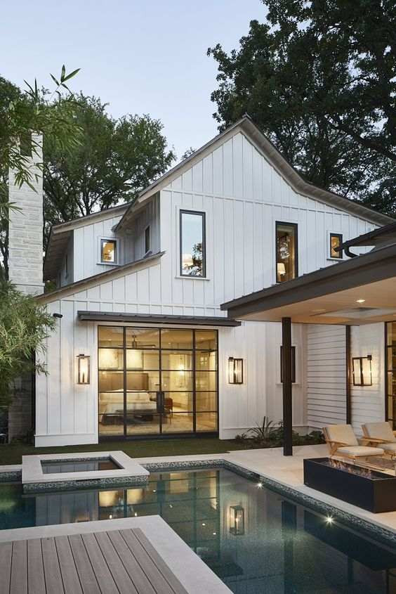 Chic White Barn House
