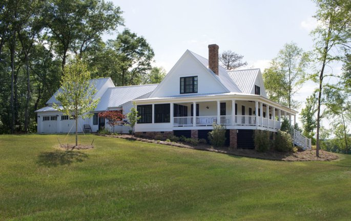 White Barn Modern Home