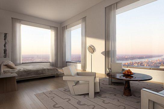 Bedroom with Walls of Windows
