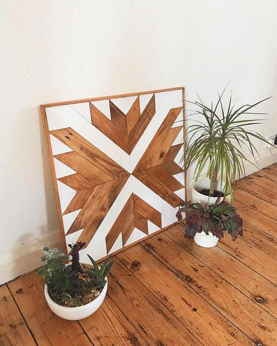 Modern Wood Installation