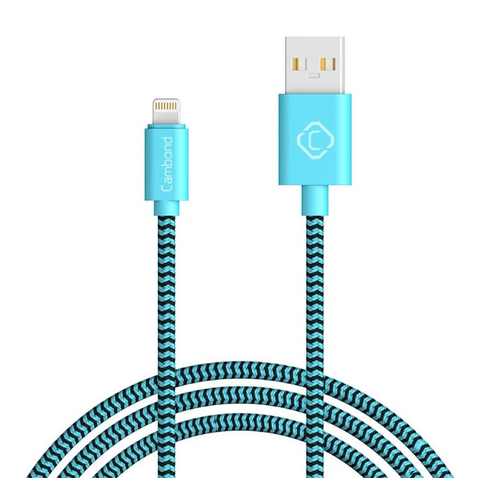 Cambond 10ft Long Durable Braided iPhone Charger