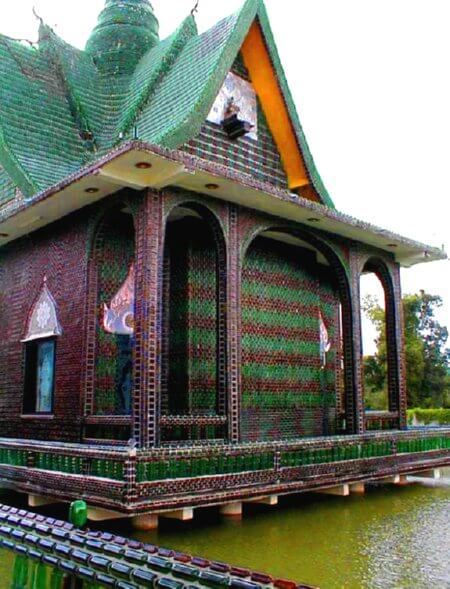 Bottle Temple in Eastern Thailand