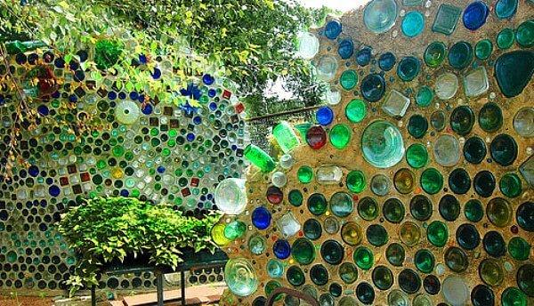 Glass Bottle Backyard Oasis