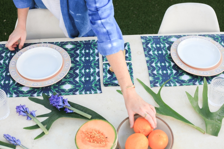 Emerald Organic Table Settings