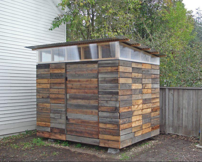 Modern Pallet Garden Shed