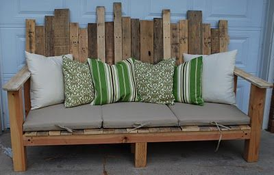 Repurposed Pallet Benche