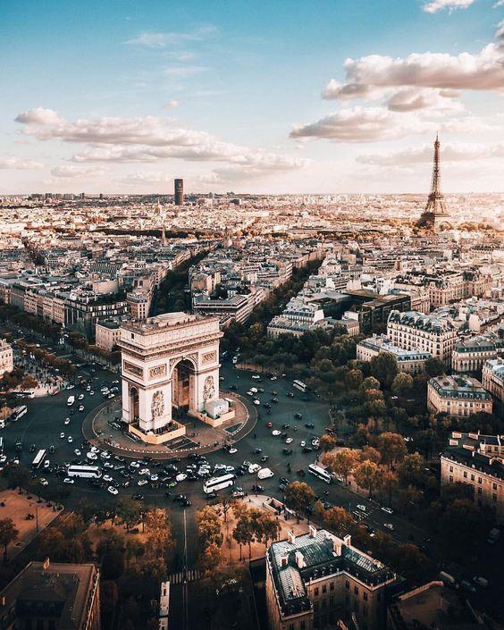 Aerial Arc de Triomphe